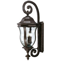 Monticello 4 Light 36 inch Walnut Patina Outdoor Wall Lantern