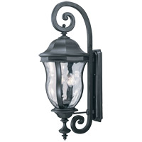 Monticello 4 Light 36 inch Black Outdoor Wall Lantern