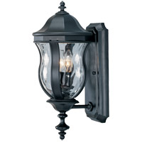Monticello 2 Light 18 inch Black Outdoor Wall Lantern