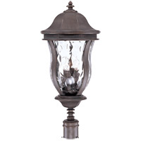 Monticello 4 Light 28 inch Walnut Patina Outdoor Post Lantern