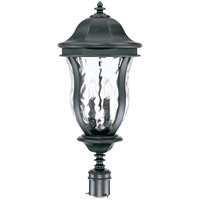 Monticello 4 Light 28 inch Black Outdoor Post Lantern