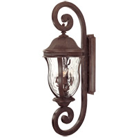 Monticello 4 Light 40 inch Walnut Patina Outdoor Wall Lantern