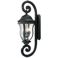 Monticello 4 Light 40 inch Black Outdoor Wall Lantern