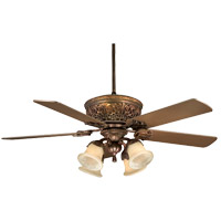 Savoy House Empire Ceiling Fan in Bark and Gold (Blades sold separately) KP-52-100-MO-52