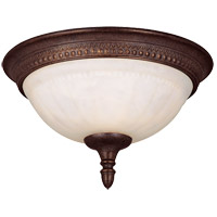 Liberty 1 Light 11 inch Walnut Patina Flush Mount Ceiling Light in Cream Marble