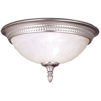 Spirit 1 Light 11 inch Pewter Flush Mount Ceiling Light in White Marble