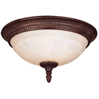 Liberty 2 Light 13 inch Walnut Patina Flush Mount Ceiling Light in Cream Marble