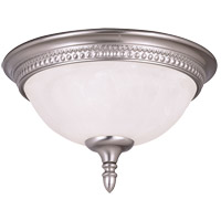 Spirit 2 Light 13 inch Pewter Flush Mount Ceiling Light in White Marble