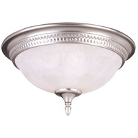 Spirit 3 Light 15 inch Pewter Flush Mount Ceiling Light in White Marble
