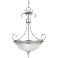Spirit 2 Light 15 inch Pewter Pendant Ceiling Light in White Marble