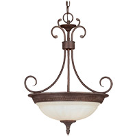 Liberty 3 Light 17 inch Walnut Patina Pendant Ceiling Light in Cream Marble