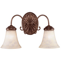 Savoy House KP-8-510-2-40 Liberty 2 Light 18 inch Walnut Patina Bath Bar Wall Light in Cream Marble photo thumbnail