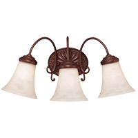 Liberty 3 Light 20 inch Walnut Patina Bath Bar Wall Light