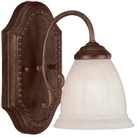Liberty 1 Light 6 inch Walnut Patina Bath Bar Wall Light in Cream Marble
