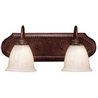 Liberty 2 Light 18 inch Walnut Patina Bath Bar Wall Light in Cream Marble