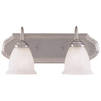 Spirit 2 Light 18 inch Pewter Bath Bar Wall Light in White Marble