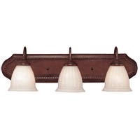 Savoy House KP-8-511-3-40 Liberty 3 Light 26 inch Walnut Patina Bath Bar Wall Light in Cream Marble photo thumbnail