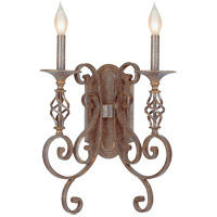Savoy House Karyl Pierce Paxton Mini Pendants Valencia 2 Light Sconce in Rustic Bronze KP-9-6036-2-72 photo thumbnail
