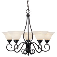 Savoy House KP-94-5-13 Oxford 5 Light 28 inch English Bronze Chandelier Ceiling Light