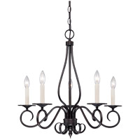 Oxford 5 Light 24 inch English Bronze Chandelier Ceiling Light
