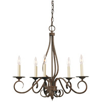 Bryce 5 Light 24 inch Sunset Bronze Chandelier Ceiling Light
