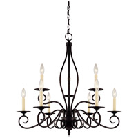 Savoy House KP-99-9-13 Oxford 9 Light 29 inch English Bronze Chandelier Ceiling Light