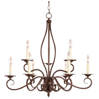 Savoy House Bryce 9 Light Chandelier in Sunset Bronze KP-99-9-91 photo thumbnail