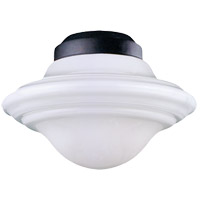 Signature 1 Light CFL Flat Black Fan Light Kit