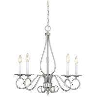 Polar 5 Light 25 inch Pewter Chandelier Ceiling Light