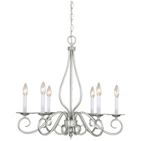Polar 6 Light 25 inch Pewter Chandelier Ceiling Light