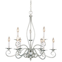 Polar 9 Light 29 inch Pewter Chandelier Ceiling Light