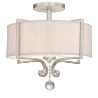 Savoy House Rosendal 4 Light Semi-Flush in Silver Sparkle 6-259-4-307