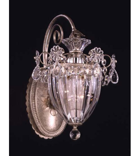 Schonbek Bagatelle 1 Light Wall Sconce in Antique Silver and Clear Heritage Handcut Trim 1240-48 photo