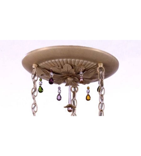 Schonbek Rondelle Pendant Canopy Kit in French Gold and Soft Jewel Vintage Crystal Trim 1257KIT-26SJ photo