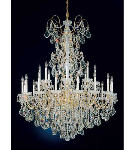 Schonbek New Orleans 24 Light Chandelier in Gold and Clear Heritage Handcut Trim 3662-20H photo