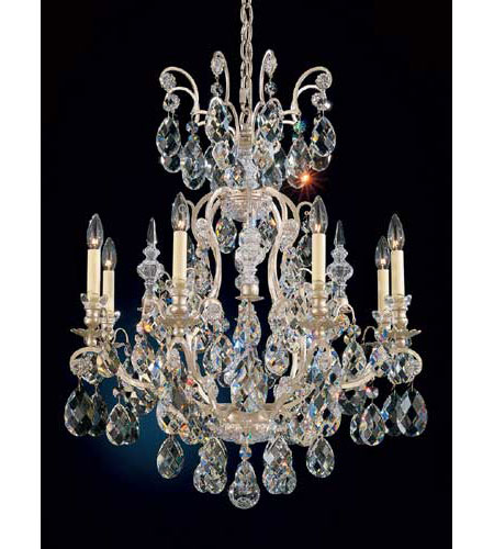 Schonbek 3771-48 Renaissance 9 Light 27 inch Antique Silver Chandelier Ceiling Light in Clear Heritage photo