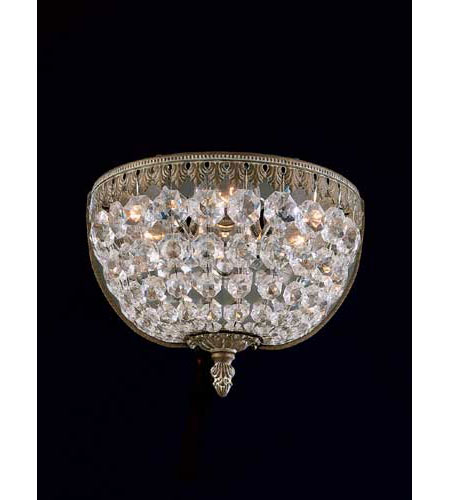 Schonbek Rialto 3 Light Wall Sconce in Parchment Bronze and Legacy Crystal 5055-74L photo