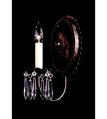 Schonbek Early American 1 Light Wall Sconce in Heirloom Bronze and Clear Legacy Collection Trim 5143-76 photo