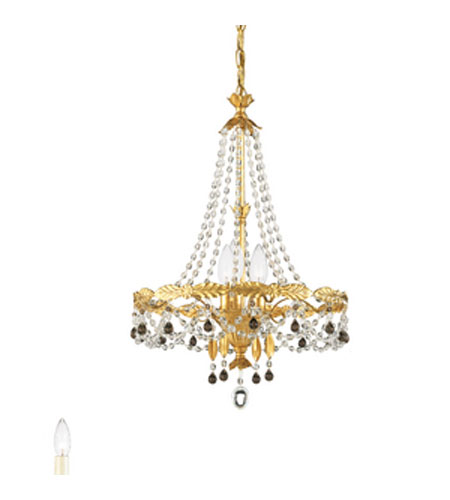 Schonbek adagio 3 light chandelier in heirloom gold with for Adagio new york