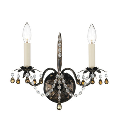 Schonbek Adagio 2 Light Wall Sconce in Heirloom Bronze with Smoke Vintage Crystal Colors 5102-76SM photo