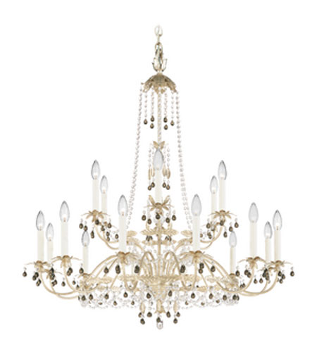 Schonbek Adagio 18 Light Chandelier in Antique Silver with Black Diamond Vintage Crystal Colors 5110-48BD photo