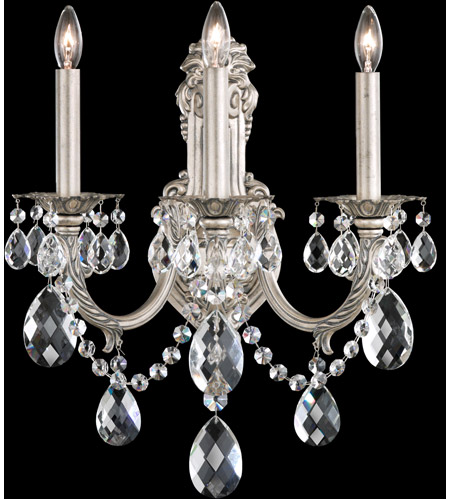 Schonbek AL6503N-83H Alea 3 Light 10 inch Florentine Bronze Wall Sconce Wall Light in Clear Heritage photo