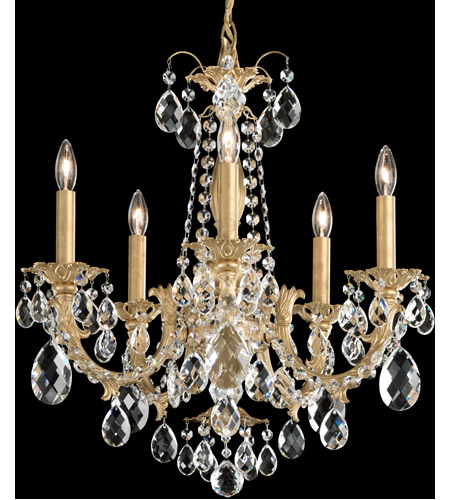 Schonbek AL6505N-76H Alea 5 Light 19 inch Heirloom Bronze Chandelier Ceiling Light in Clear Heritage photo