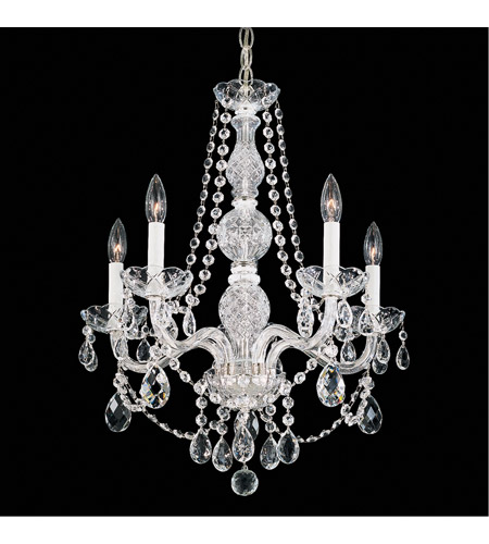 Schonbek 1302-40H Arlington 5 Light 21 inch Silver Chandelier Ceiling Light photo