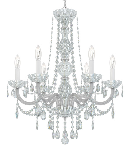 Schonbek 1303-40H Arlington 6 Light 24 inch Silver Chandelier Ceiling Light in Polished Silver, Clear Heritage  photo