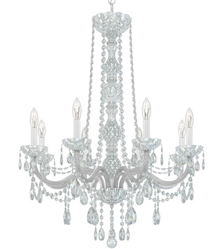 Schonbek 1305-40H Arlington 8 Light 28 inch Silver Chandelier Ceiling Light in Polished Silver, Clear Heritage  photo