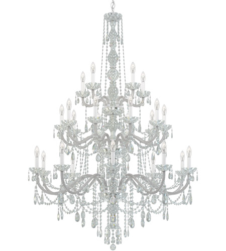 Schonbek 1310-40H Arlington 25 Light 45 inch Silver Chandelier Ceiling Light in Polished Silver, Clear Heritage  photo
