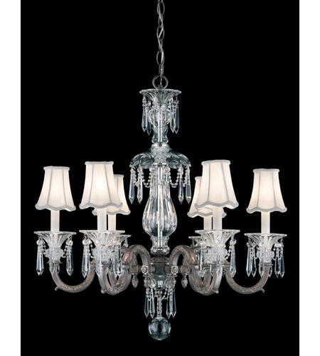 Schonbek Birmingham Chandelier in Royal Pewter and Clear Heritage Handcut Trim 3676-84 photo