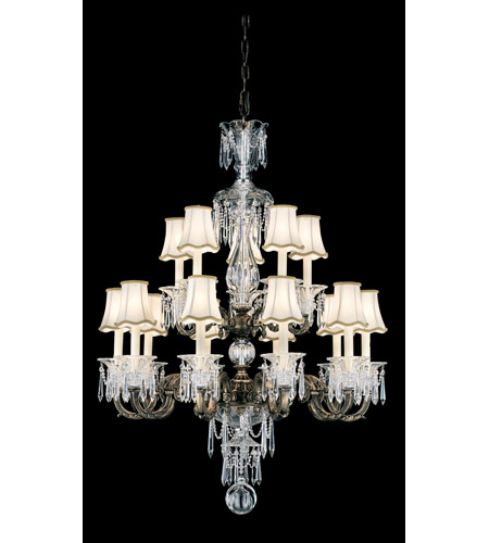 Schonbek Birmingham 15 Light Chandelier in Midnight Gild and Clear Heritage Handcut Trim 3679-86 photo