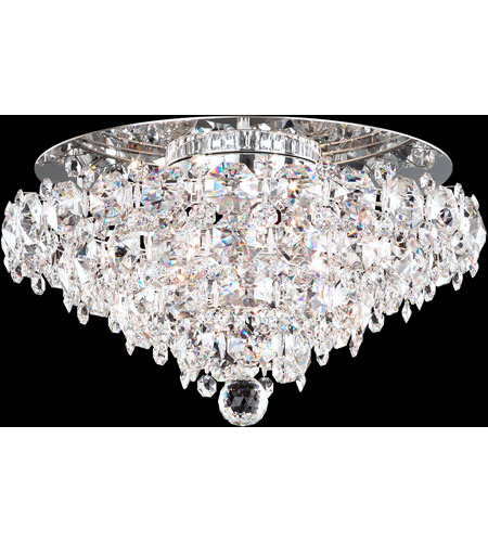 Schonbek BN1416N-401S Baronet 4 Light Polished Stainless Steel Flush Mount Ceiling Light in Clear Swarovski photo
